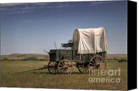 Chuck Wagon Canvas Prints - Last Stop Canvas Print by Fred Lassmann