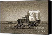 Chuck Wagon Canvas Prints - Last Stop Vintage Canvas Print by Fred Lassmann
