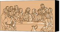 Son Digital Art Canvas Prints - last supper of Jesus Christ Canvas Print by Aloysius Patrimonio