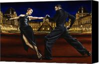 Male Canvas Prints - Last Tango in Paris Canvas Print by Richard Young