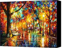 Afremov Canvas Prints - Late Date Canvas Print by Leonid Afremov