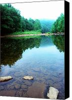 Rushing Mountain Stream Canvas Prints - Late Summer at the Baptizing Hole Canvas Print by Thomas R Fletcher