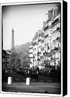 City Streets Canvas Prints - Latin Quarter Streets Canvas Print by John Rizzuto