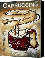 Red Crimson Canvas Prints - Latte by MADART Canvas Print by Megan Duncanson