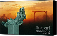 Dusk Sculpture Canvas Prints - LAube Canvas Print by Wolfgang Karl
