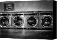Stack Canvas Prints - Laundromat Art Canvas Print by Bob Orsillo