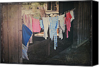 Dry Canvas Prints - Laundry Day Canvas Print by Laurie Search