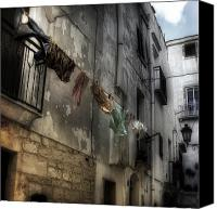 Old Houses Canvas Prints - Laundry Canvas Print by Joana Kruse