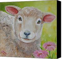 Sheep Canvas Prints - LauraLye Canvas Print by Laura Carey