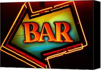 Bar Canvas Prints - Laurettes Bar Canvas Print by Barbara Teller