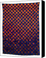 Wall Art Tapestries - Textiles Canvas Prints - Lava and Water Canvas Print by Mildred Thibodeaux