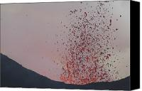 Eruption Canvas Prints - Lava Bombs Expelled During A Basaltic Canvas Print by Richard Roscoe