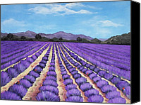 Violet Prints Canvas Prints - Lavender Field in Provence Canvas Print by Anastasiya Malakhova