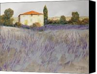 Grey Painting Canvas Prints - Lavender Canvas Print by Guido Borelli