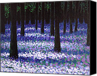 Treescape Canvas Prints - Lavender Woodland Canvas Print by John  Nolan