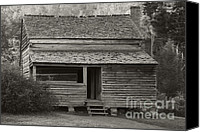 Log Cabins Canvas Prints - Lawsons Place II Canvas Print by Gary L Suddath