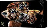 Bigcat Canvas Prints - Lay Your Troubles On My Shoulder Put Your Worries In My Pocket  Canvas Print by Herbert Renard