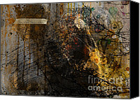 Austin Mixed Media Canvas Prints - Layered realities abstract composition painting print Canvas Print by Svetlana Novikova