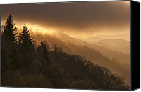 Overlook Canvas Prints - Layers of Light Canvas Print by Joseph Rossbach