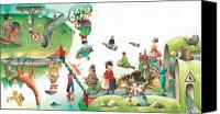 Lanscape Canvas Prints - Lazinessland06 Canvas Print by Kestutis Kasparavicius