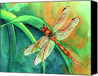 Insects Painting Canvas Prints - Lazy Days Canvas Print by Tracy L Teeter