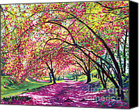 Trees Blossom Canvas Prints - Lazy on a Sunday Central Park Canvas Print by David Lloyd Glover