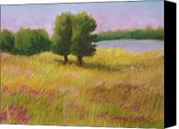 Rural Landscapes Pastels Canvas Prints - Lazy Summer Day Canvas Print by Wynn Creasy