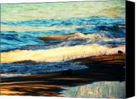 Lake Canvas Prints - Lazy Waves Canvas Print by Leah Moore