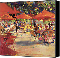 Fresco Canvas Prints - Le Cafe du Jardin  Canvas Print by Peter Graham