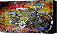Rainbow Tapestries Textiles Canvas Prints - Le Champion Canvas Print by Julie Niemela