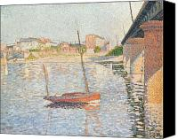 Signac Canvas Prints - Le Clipper - Asnieres Canvas Print by Paul Signac