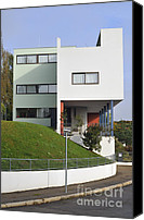 The White House Canvas Prints - Le Corbusier building Stuttgart Weissenhof Canvas Print by Matthias Hauser