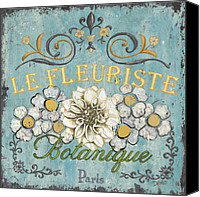 Shop Painting Canvas Prints - Le Fleuriste de Bontanique Canvas Print by Debbie DeWitt
