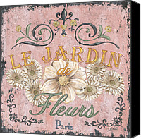 Pink Canvas Prints - Le Jardin 1 Canvas Print by Debbie DeWitt