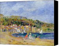On The Beach Canvas Prints - Le Lavandou Canvas Print by Pierre Auguste Renoir