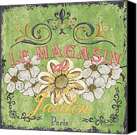 Shop Painting Canvas Prints - Le Magasin de Jardin Canvas Print by Debbie DeWitt