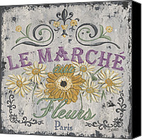 Shop Painting Canvas Prints - Le Marche Aux Fleurs 1 Canvas Print by Debbie DeWitt