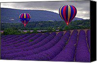 Hot Air Canvas Prints - Le Matin Canvas Print by John Galbo