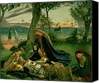 Camelot Canvas Prints - Le Morta dArthur Canvas Print by James Archer