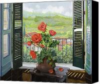 Rose Canvas Prints - Le Persiane Sulla Valle Canvas Print by Guido Borelli