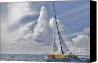 Ocean Digital Art Canvas Prints - Le Pingouin Race Yacht Open 60 Canvas Print by Dustin K Ryan