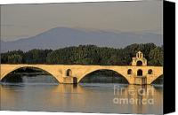 Backdrop Canvas Prints - Le Pont Benezet.Avignon. Provence. Canvas Print by Bernard Jaubert