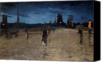 Raining Canvas Prints - Le Pont de Pierre Canvas Print by Charles Angrand