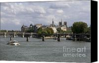La Seine Canvas Prints - Le Pont des Arts. Paris. France Canvas Print by Bernard Jaubert