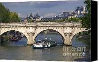 Pont Canvas Prints - Le Pont Neuf . Paris. Canvas Print by Bernard Jaubert