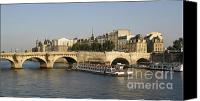 City Scapes Canvas Prints - Le Pont Neuf. Paris. Canvas Print by Bernard Jaubert