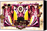 Paula Ayers Canvas Prints - Le Punk de Steam Canvas Print by Paula Ayers