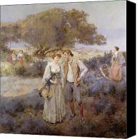Couples Canvas Prints - Le Retour de Cythere Canvas Print by William Lee