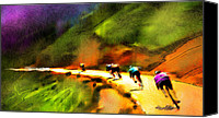 Cyclisme Canvas Prints - Le Tour de France 02 Canvas Print by Miki De Goodaboom