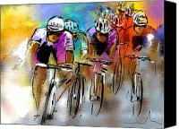 Tour De France Canvas Prints - Le Tour de France 03 Canvas Print by Miki De Goodaboom